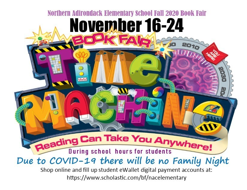 The book fair is coming to NAC Elementary November 16-24!