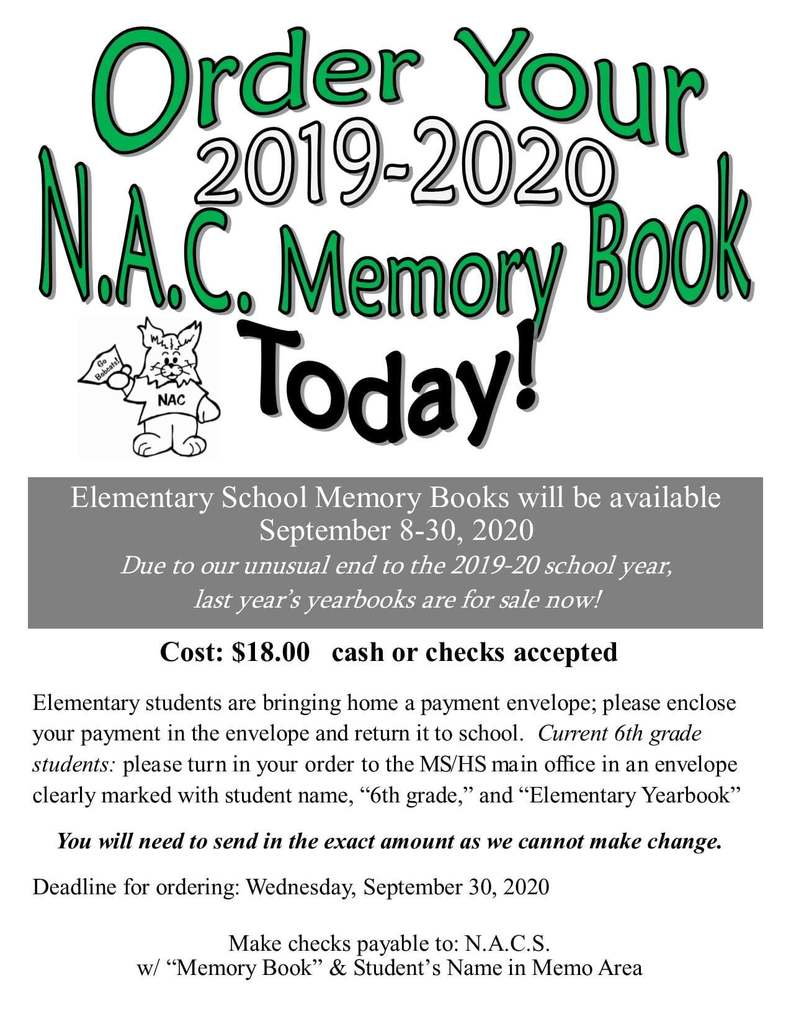 2019-20 Elementary Yearbooks are for sale